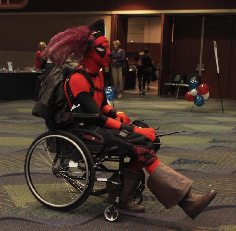 MegaCon 2012 - Wheelchair Deadpool 2 by Purph