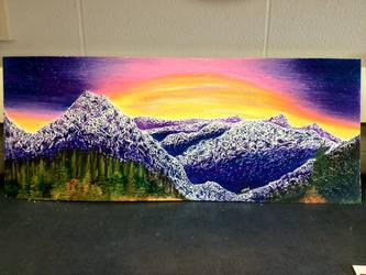 Mountain Sunset by jesska1