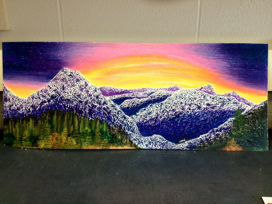 Mountain Sunset by jesska1
