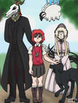 The Ancient Magus Family by SplatterScetch