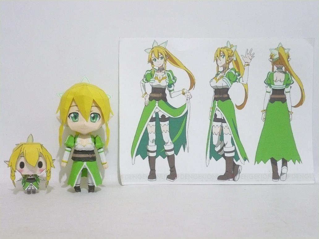 Papercraft Chibi Lyfa - comparisons D by bryanz09