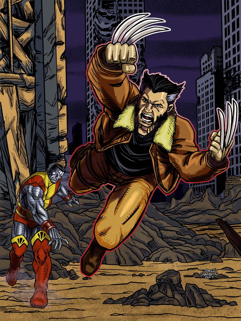 Wolverine and Colossus by Jake-Sumbing