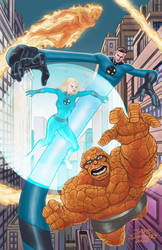 Fantastic Four pin-up art