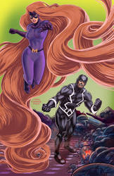 Inhumans pin-up art