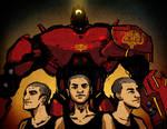 The Crimson Trio by vapidity
