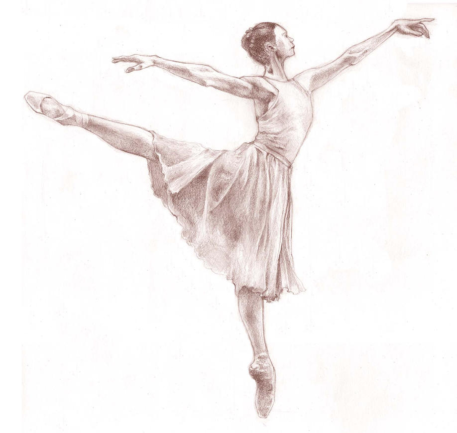 ballerina pencil drawing - photo #31