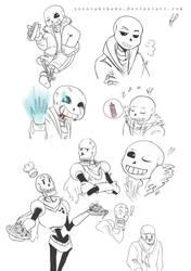 Undertale_Sketches#1 by Kaiserglanz