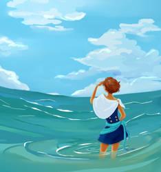 Look into the sea