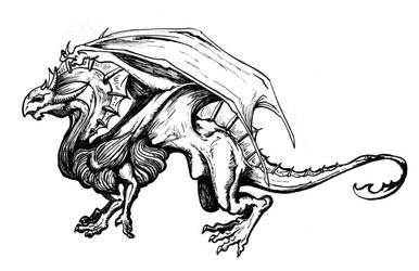 Dragon Ink Sketch by Disturb963