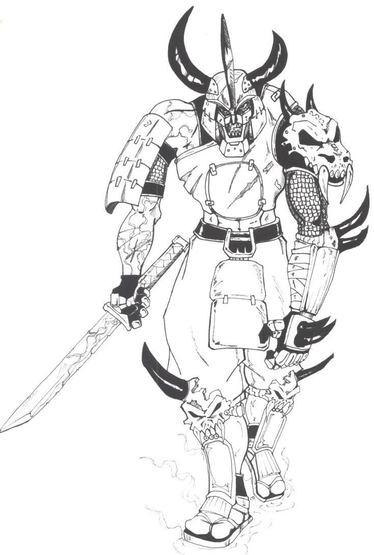 demon samurai by mawnbak on deviantart