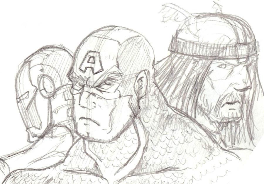 Avengers Sketch By Mawnbak On DeviantArt