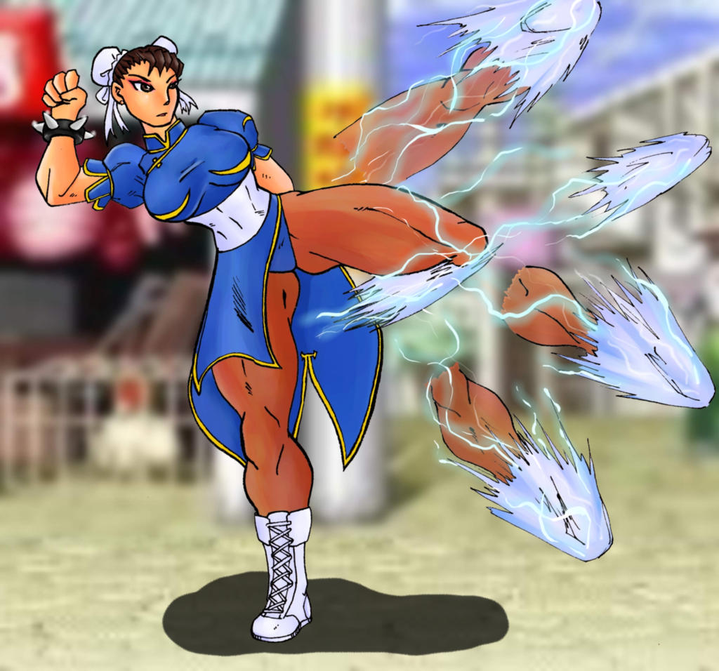 Lightning Kick by Mawnbak