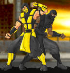 Scorpion And Noob Saibot