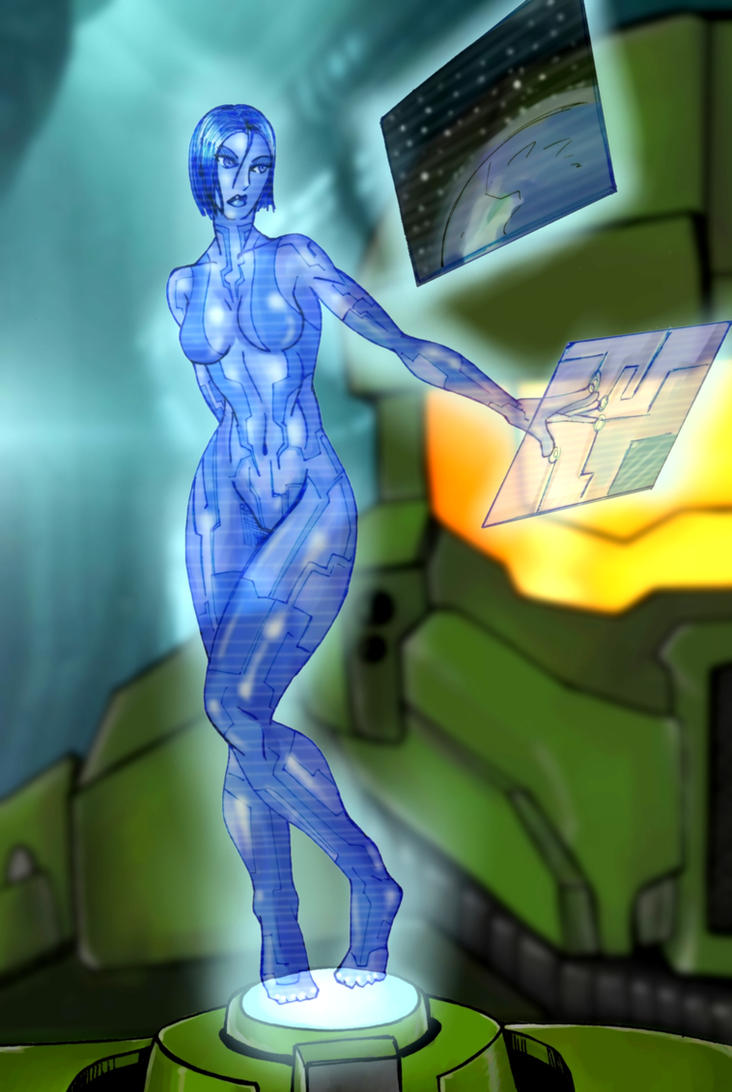 Cortana And Master Chief by Mawnbak