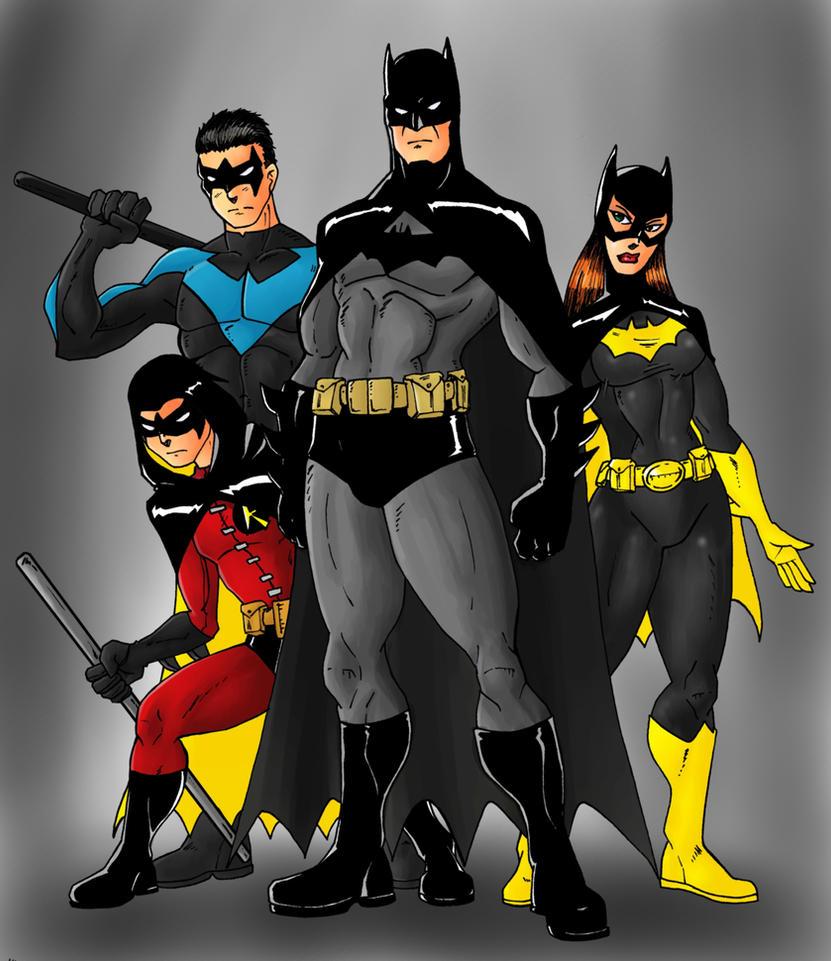 Bat Family by Mawnbak
