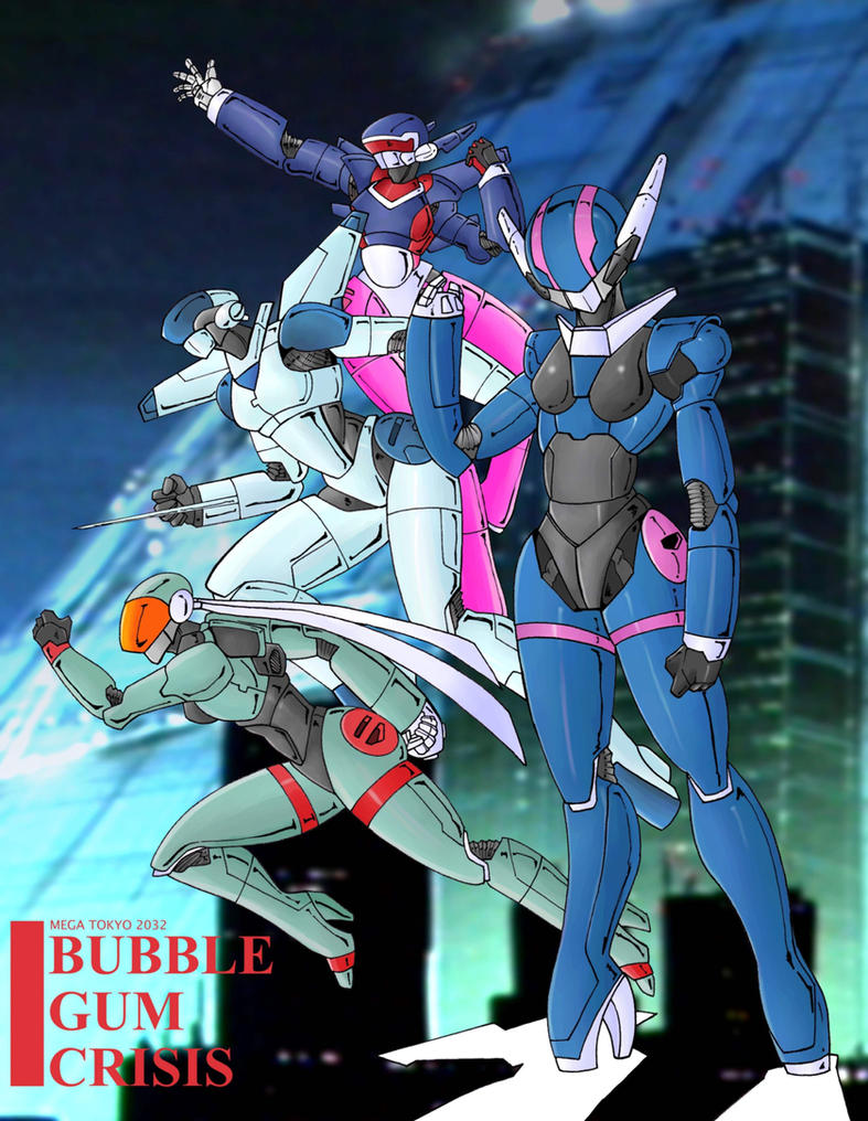 Bubblegum Crisis by Mawnbak