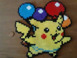 Flying Pikachu Perler by Perler-Pop