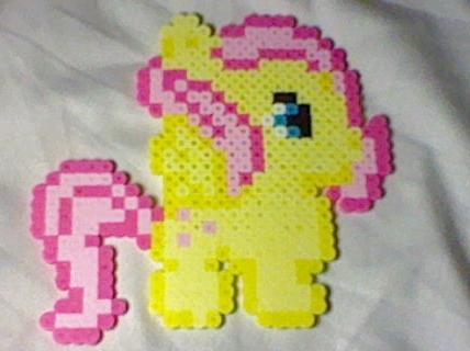 Petite Pony Chubby Fluttershy by Perler-Pop