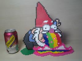 Gravity Falls Standing Rainbow Puking Gnome Perler