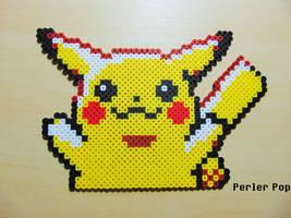 Happy 20th Anniversary Pokemon Pikachu Perler by Perler-Pop