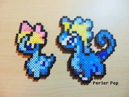 Amaura and Aurorus Perlers by Perler-Pop