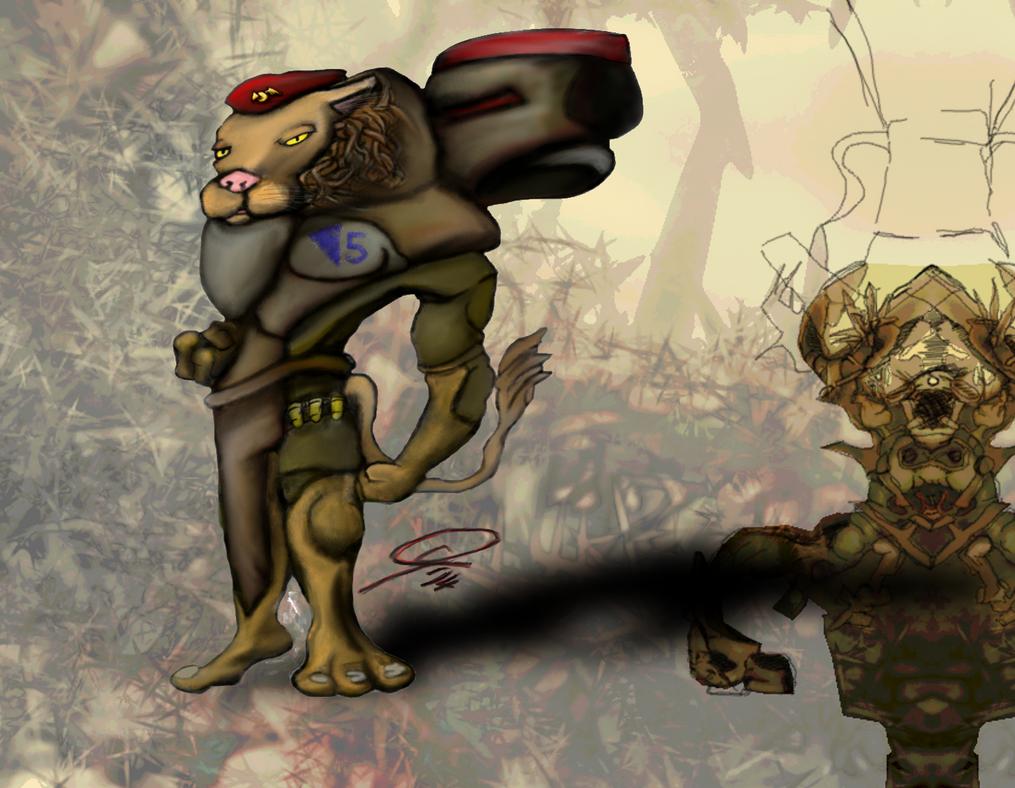Lion Jumptrooper by markusglanzer