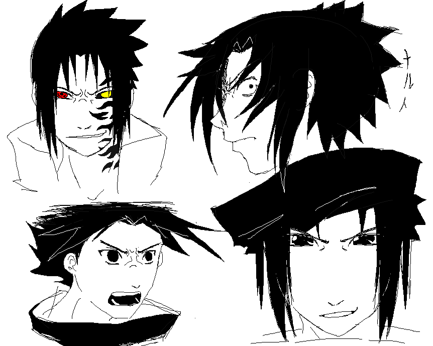 Sasuke emotions by Naruto-No-Dobe