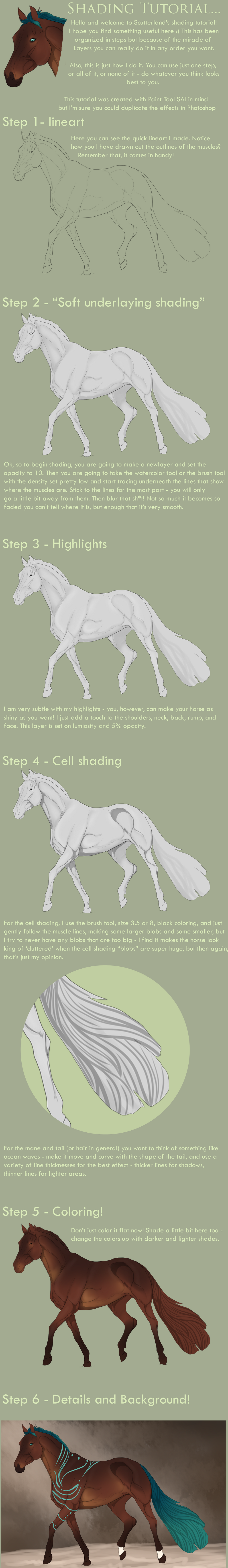 TUTORIAL ANIMALS horses on Drawing-tutorial - DeviantArt