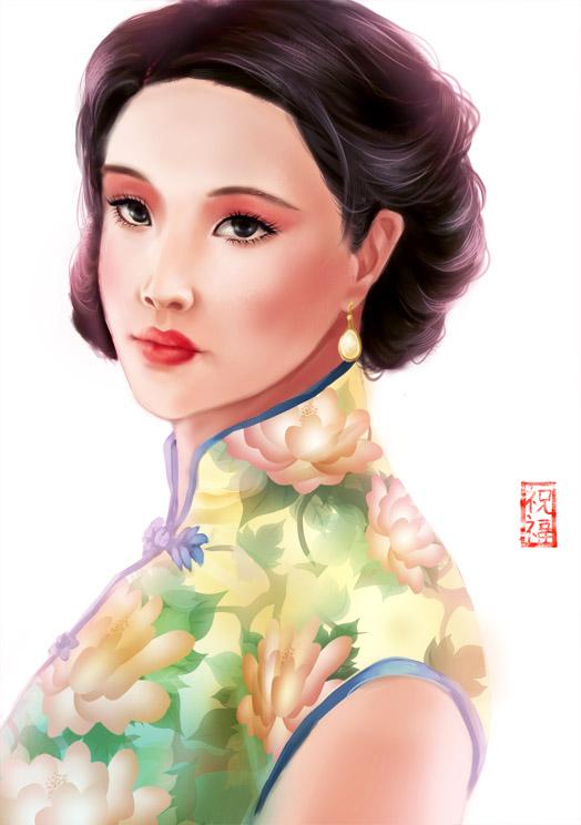 shanghai woman by everfae