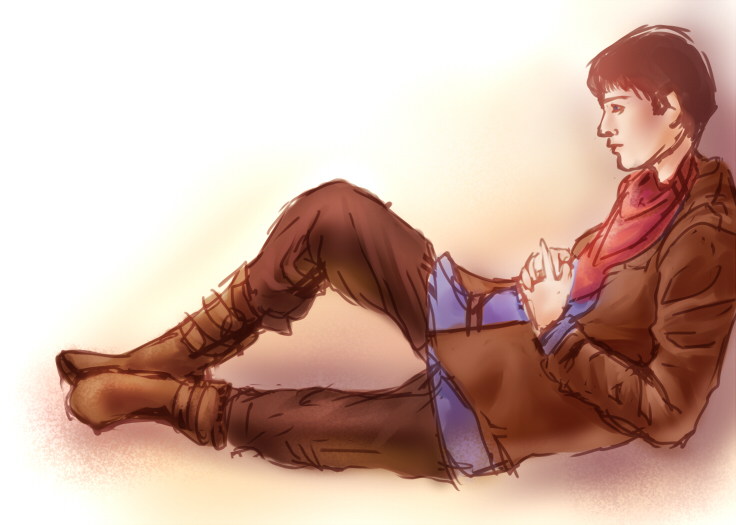 quick merlin sketch by everfae