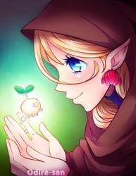 Little Elf and her Friend [Speedpaint] by Odire-san