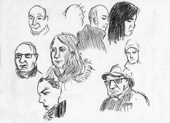 People in the subway by prolactine