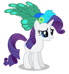 Rarity in a hat with feathers