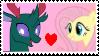 Fluttershy x Pharnyx Stamp by Achuni