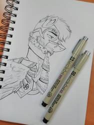 My Knight (line art) by PepperScratch