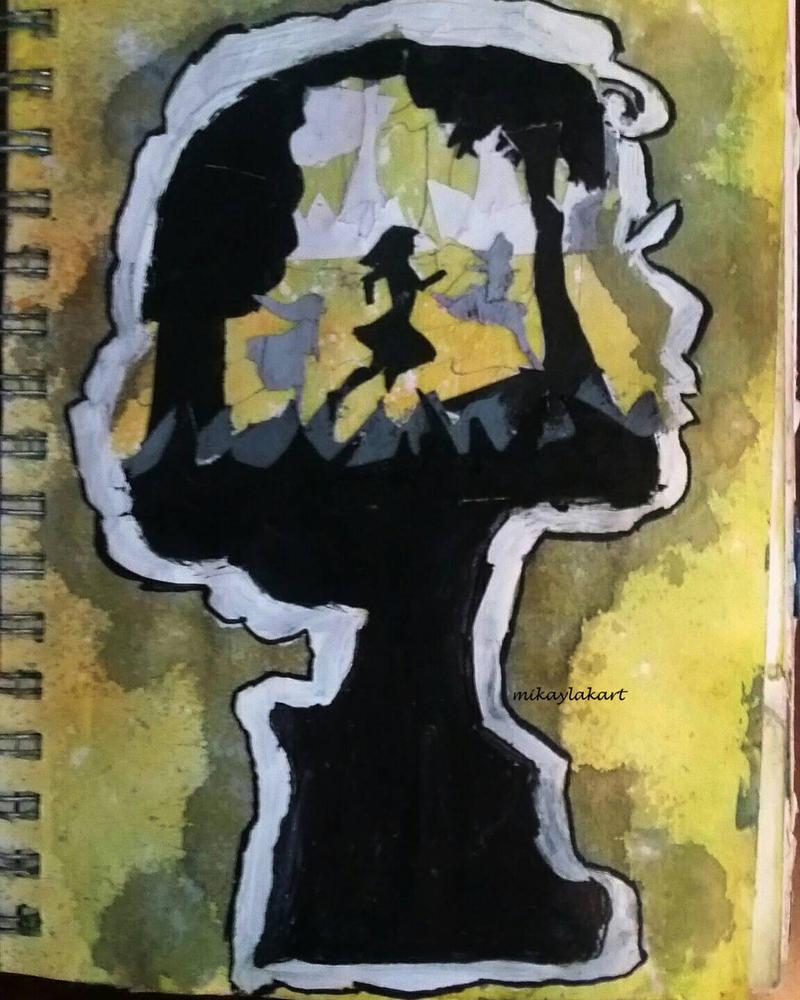 The Yellow Wallpaper-- Art Journal  by MikaylaKArt
