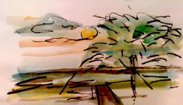 Sunset in ma'ayan Zwi 1