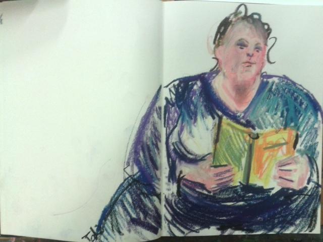 Ellen in my sketchbook by Anipo