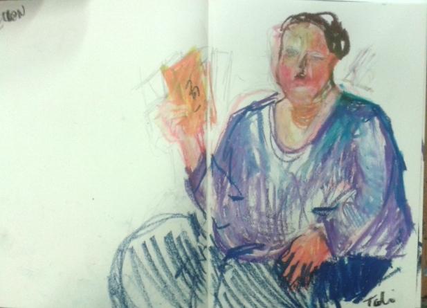 Ellen in my sketchbook II by Anipo