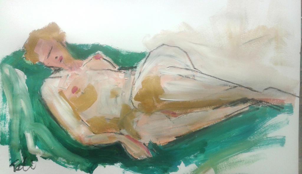 Anna sleeps by Anipo