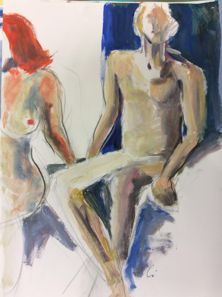 ArtisTTable's Figure drawing marathon - Zwolle 1 by Anipo