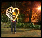 light painting heart