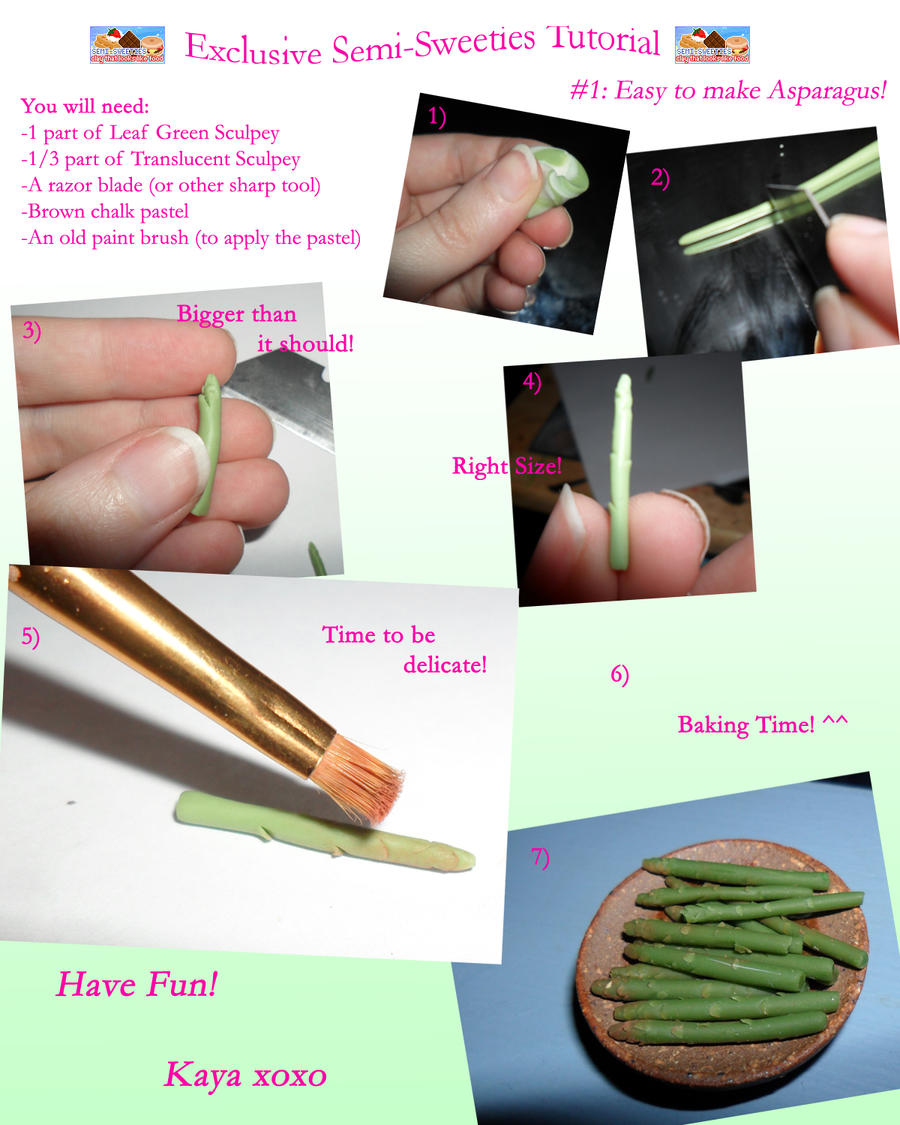 Exclusive Semi-Sweeties Tutorial: Asparagus by kayanah