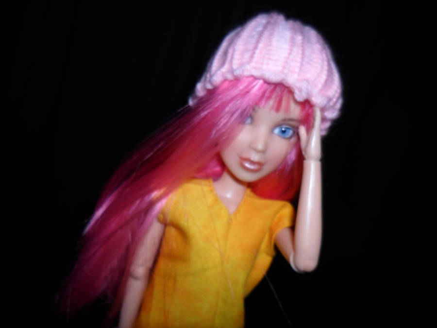Pink Wool Hat by kayanah