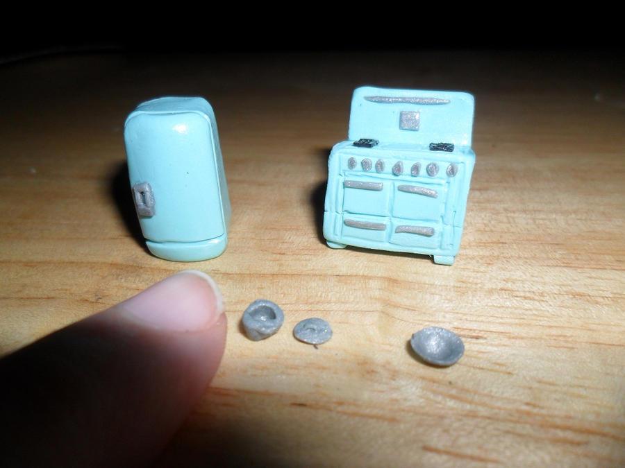 Mini Mini Dollhouse Kitchen Appliances by kayanah