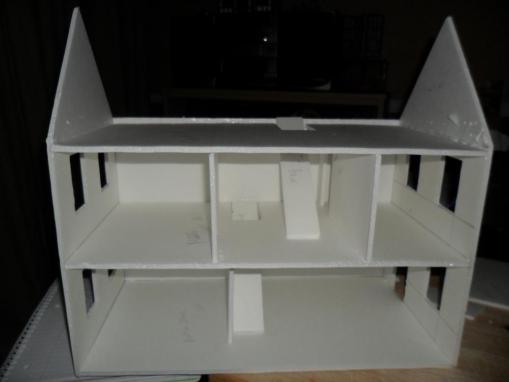 Foam Board Mini Houses : Second foam core dollhouse wip by kayanah on deviantart