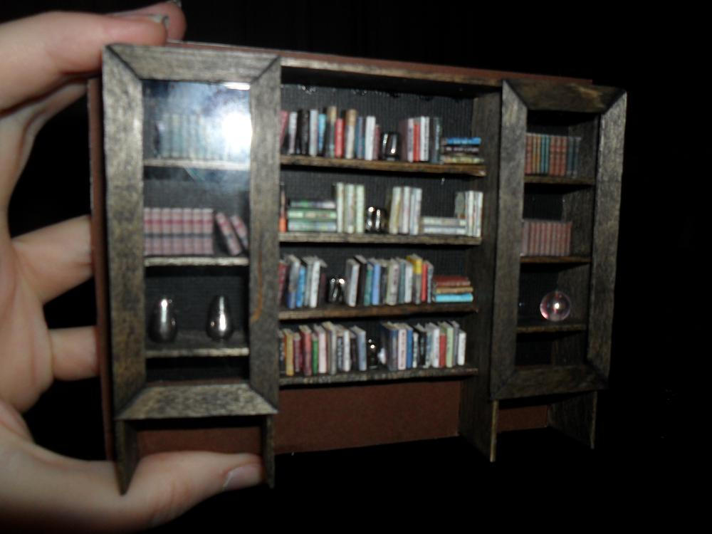 Bookcase For My Foamcore Dollhouse