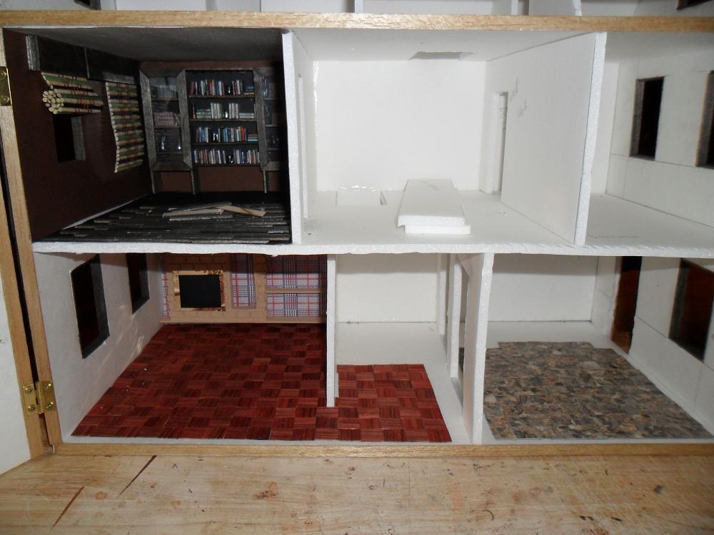 Inside My Foamcore Dollhouse Wip By