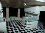 Retro Dollhouse WIP: Kitchen's right side