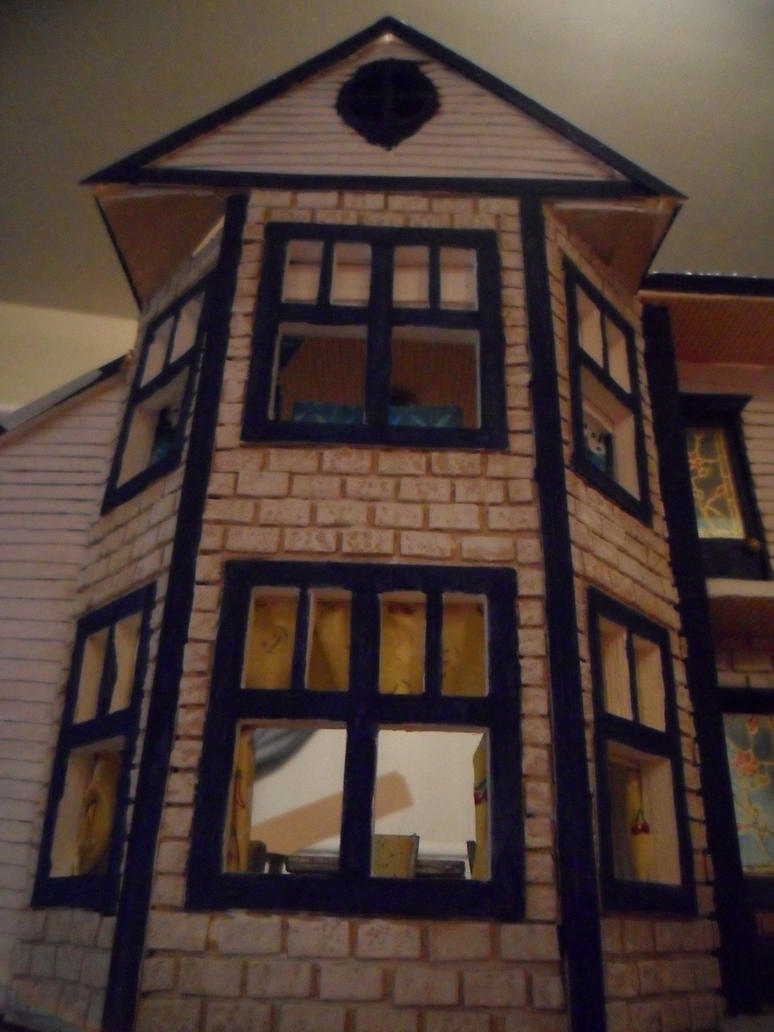Retro Dollhouse WIP: Paint Job Almost Done by kayanah